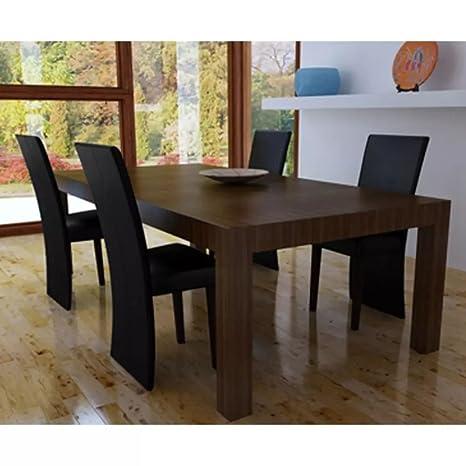 Luckyfu Este Juego de 4 sillas de Comedor Negras.La Silla de diseño ...