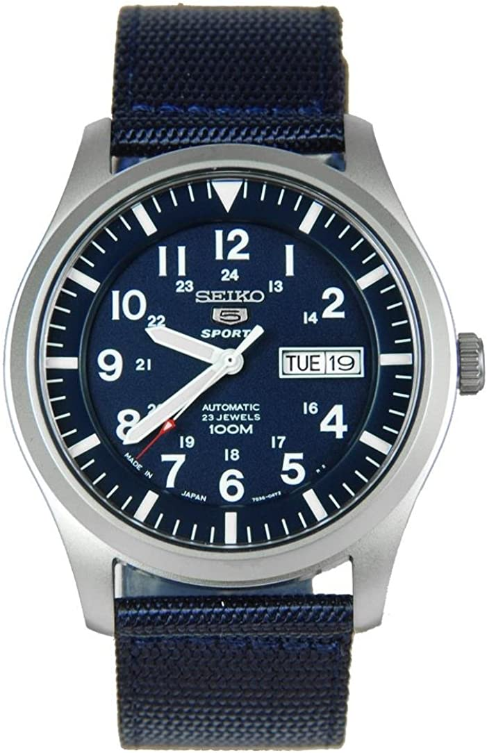 Seiko 5 Automatic Blue Dial Men's Watch SNZG11J1
