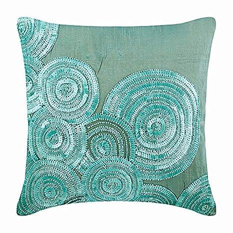 Amazon.com: Lujo cubierta de almohadas con abalorio almohada ...
