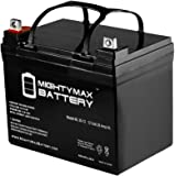 ML35-12 - 12V 35AH DC DEEP CYCLE SLA SOLAR ENERGY STORAGE BATTERY - Mighty Max Battery brand product