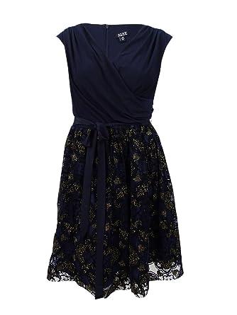 c55224b77b7 SLNY Fashions Plus Size Surplice Glitter Embellished Dress at Amazon ...