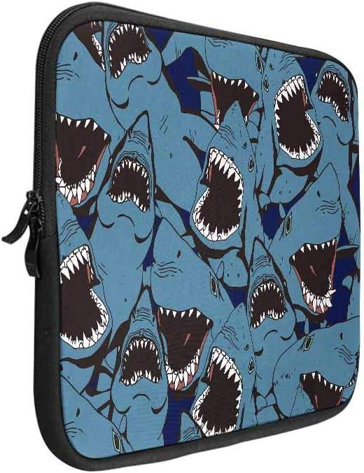ATHG Laptop Sleeve Case Laptop Packs 3D Skull Riding Shark Sea Wave Business Carrying Handbag Fit 13//15 Inch