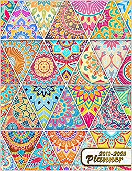 2019-2020 Planner: Cute Mandala Daily, Weekly and Monthly 2 ...