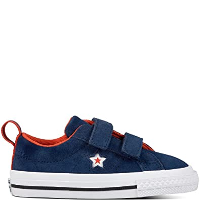 9d0ccd09ad056 Converse Babies  Lifestyle One Star 2v Ox Suede Slippers Blue (Navy White