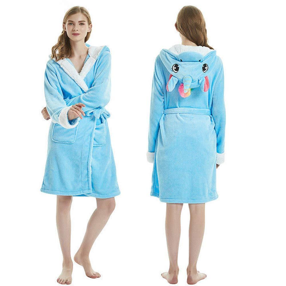 d0ecfe9ced Unicorn Bathrobe Soft Hooded Fleece Animal Unicorn Bath Robe for Women Men  Girls at Amazon Women s Clothing store