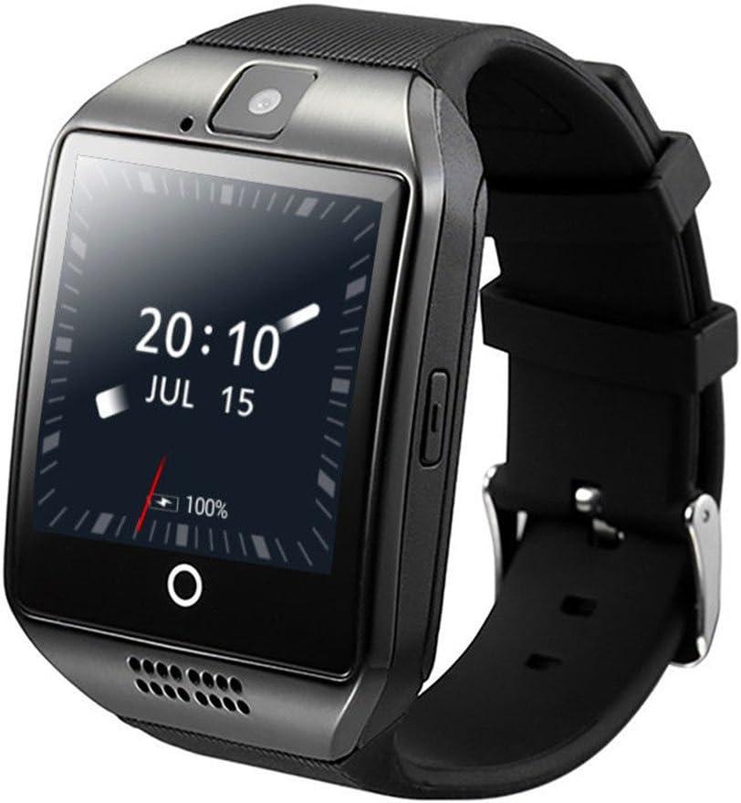 ZOMTOP Q18 Smart Watch teléfono Bluetooth cámara SIM TF Tarjeta SmartWatch para Android Samsung LG Google Pixel y iPhone 7 7Plus 6 6S 6S Plus (Negro)