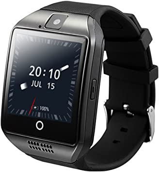 ZOMTOP Q18 Smart Watch teléfono Bluetooth cámara SIM TF Tarjeta SmartWatch para Android Samsung LG Google Pixel y iPhone 7 7Plus 6 6S 6S Plus (Negro): Amazon.es: Electrónica