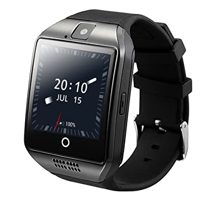 ZOMTOP Q18 Smart Watch Phone Bluetooth Camera SIM TF Card Smartwatch for Android Samsung LG Google Pixel and iPhone 7 7Plus 6 6s 6s Plus(Black)