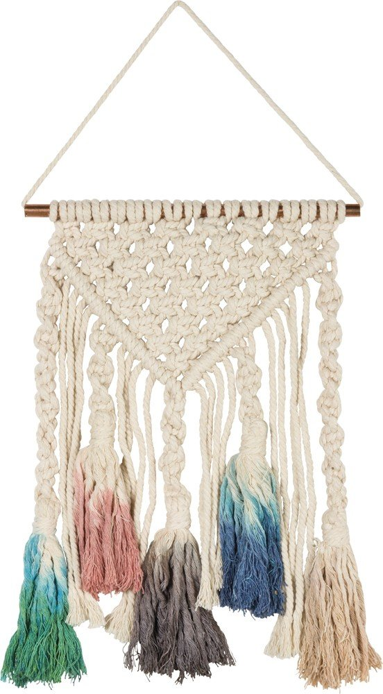 By Kathy Macramé Large Dip Dye Boho Decor in Multicolor