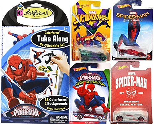 Spider-Man Homecoming Hot Wheels Exclusive car + Sinister Six 4-Pack & Ultimate Colorforms Stickable set Super Hero Toy Character 2-Pack - Walmart Batgirl Costume