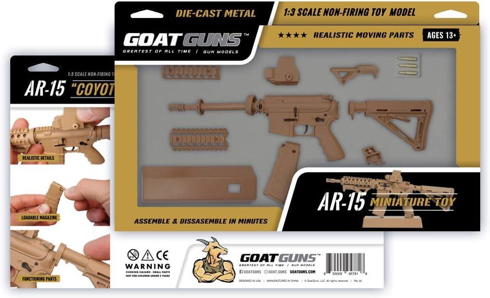 1:3 Scale Die Cast Model GoatGuns Miniature AR 15 Coyote Model Build Kit