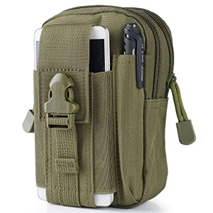 Foneda Multipurpose Tactical Cover Smartphone Tan Holster EDC Security Pack Carry Case Pouch Belt Waist Bag Gadget Money Pocket for iPhone 6s Galaxy ...