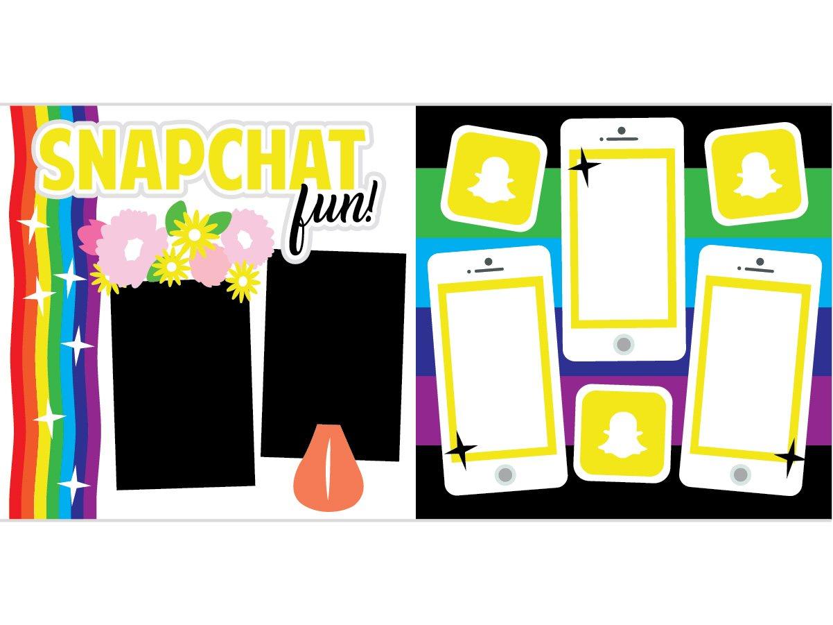 Snapchat Fun Scrapbook Page Kit