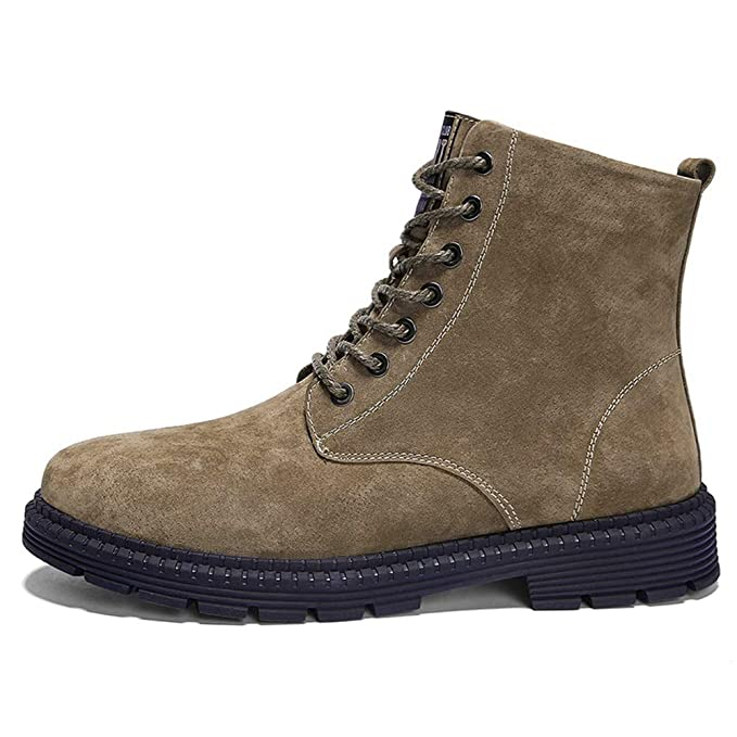 Jiuyue-shoes, Botas para Hombre 2018 Botines para Hombre, Personalidad Casual Piel de Cerdo, Piel, Tamaño Grande, Ante, Alto, Top, Zapatos de Ocio (Color ...