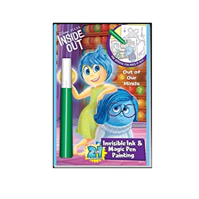 DISNEY PIXAR INSIDE OUT INVISIBLE INK MAGIC PEN PAINTING STICKER PUZZLE: Toys & Games