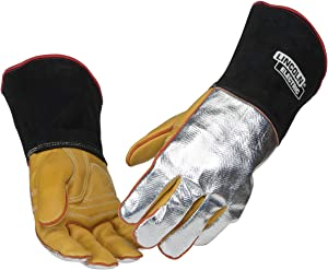 Lincoln Electric Heat Resistant Welding Gloves |Aluminized Reflective Hand | XL | K2982-XL