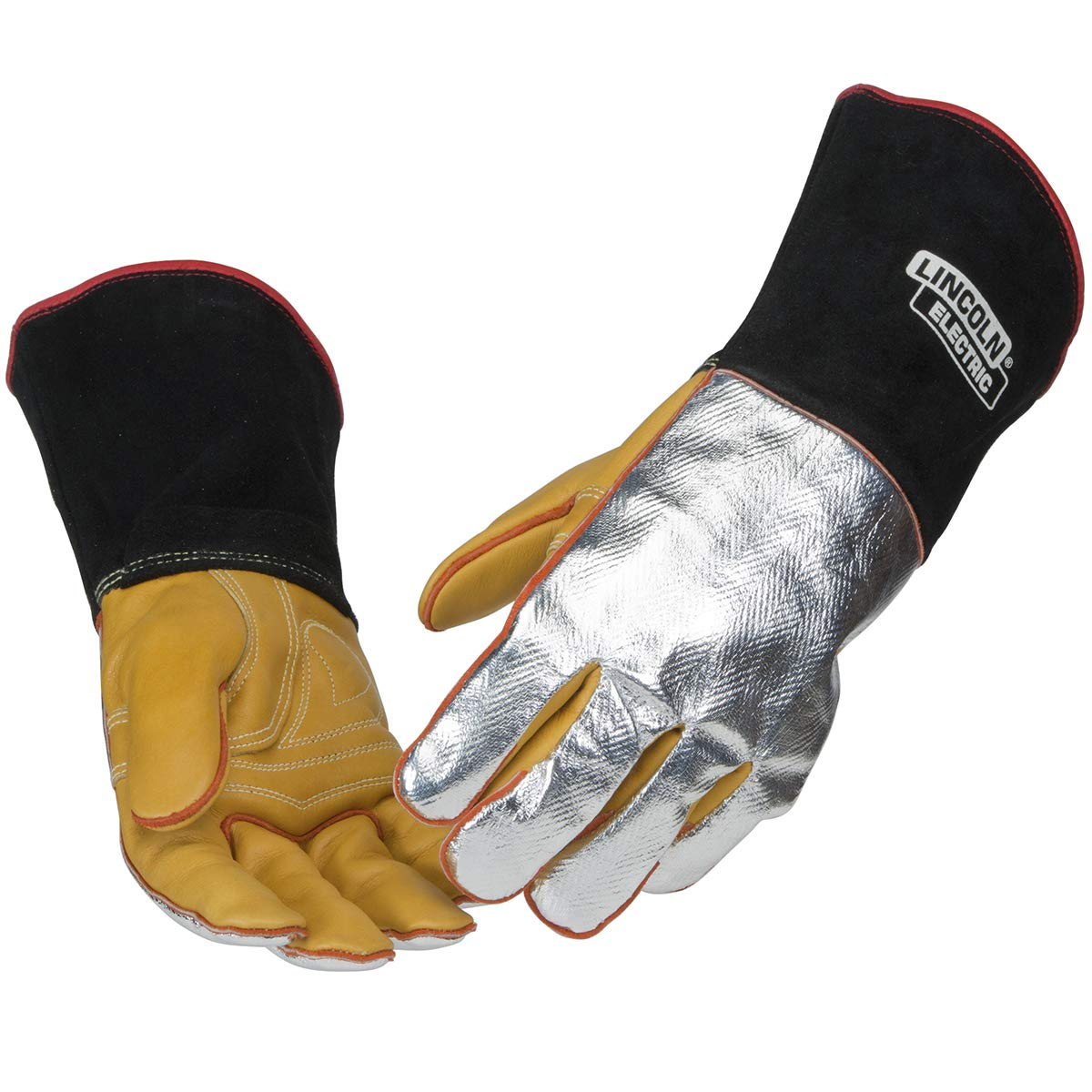 Lincoln Electric Heat Resistant Welding Gloves |Aluminized Reflective Hand | Large | K2982-L