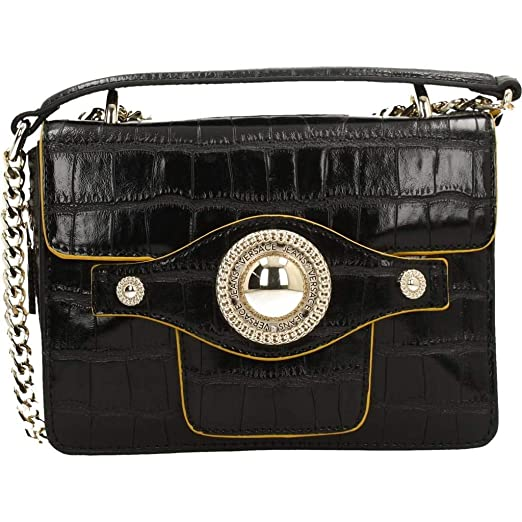 f9ce70b5121a Amazon.com  Versace EE1VSBBO4 E899 Black Shoulder Bag for Womens ...