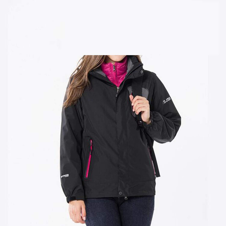 LNYF-OV Jacken Outdoor Ski Sportswear 3 In 1, Wasserdicht Und Warm Bergsteigen Winter Ente Tank, Damen, Schwarz