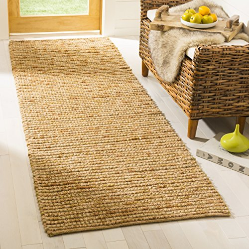 (Safavieh Bohemian Collection BOH525D Hand-Knotted Gold and Multi Jute Area Rug (2'6