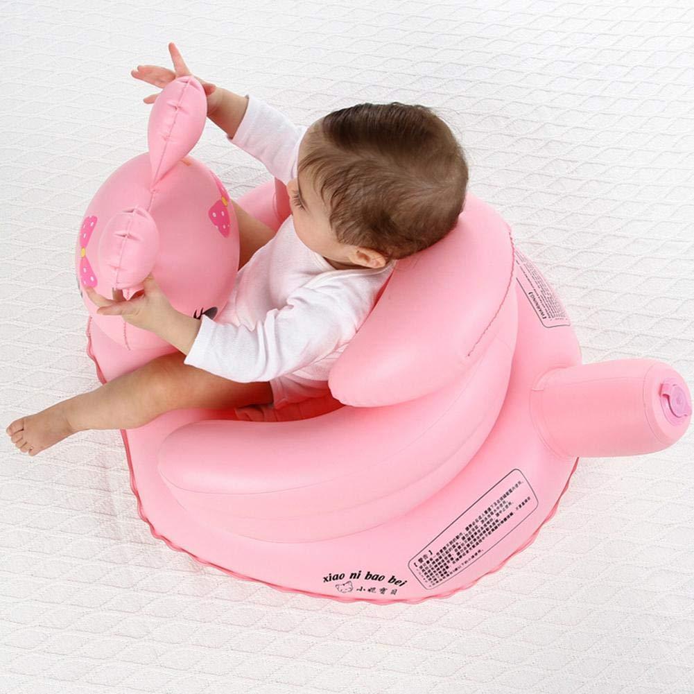 duhe189014 - Taburete de baño portátil para bebé, sofá Inflable multifunción, Silla de Aprendizaje BB Silla de Comedor