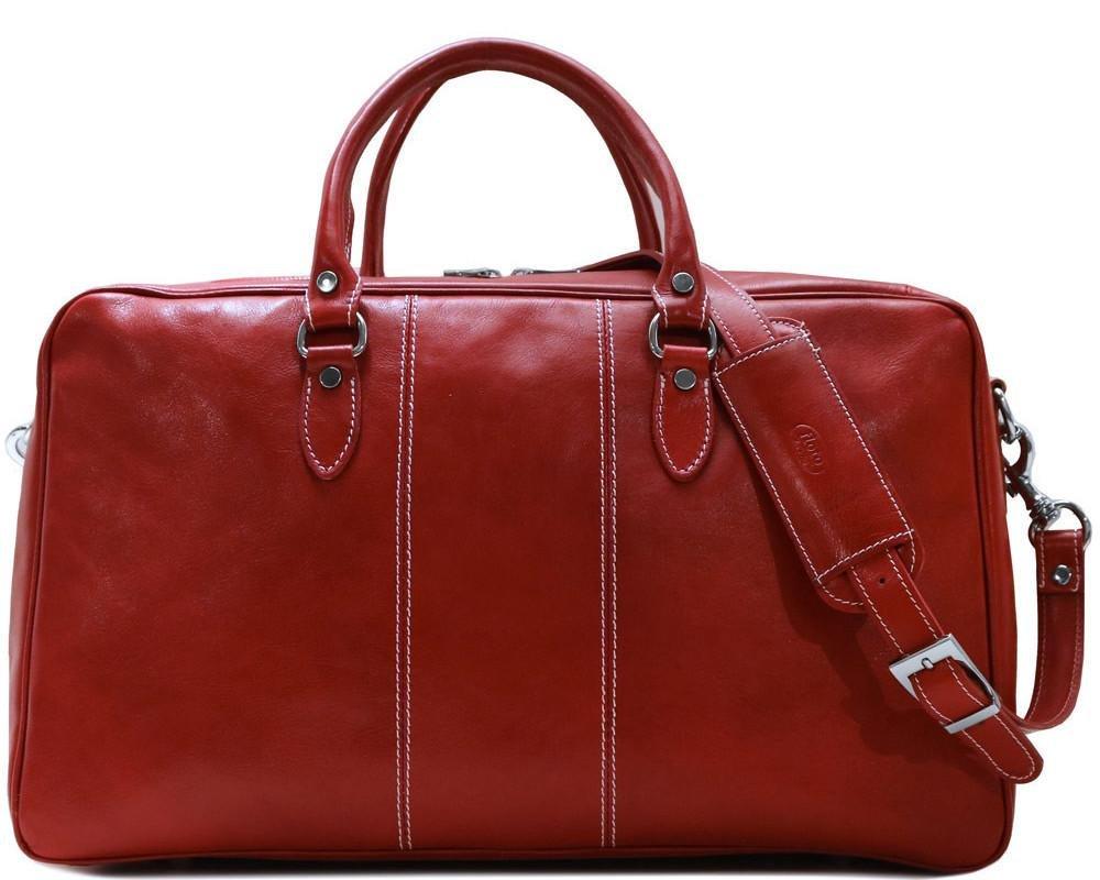 Venezia Suitcase Duffle Bag Weekender in Full Grain Leather by Floto