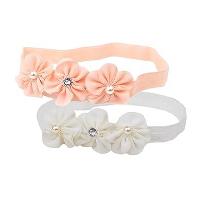 Jmitha Bébé Fille Bow Bandeau Turban fleur Bandeaux élastique serre-tête  Wrap Photographie Belles Cheveux 33e2b5b6932