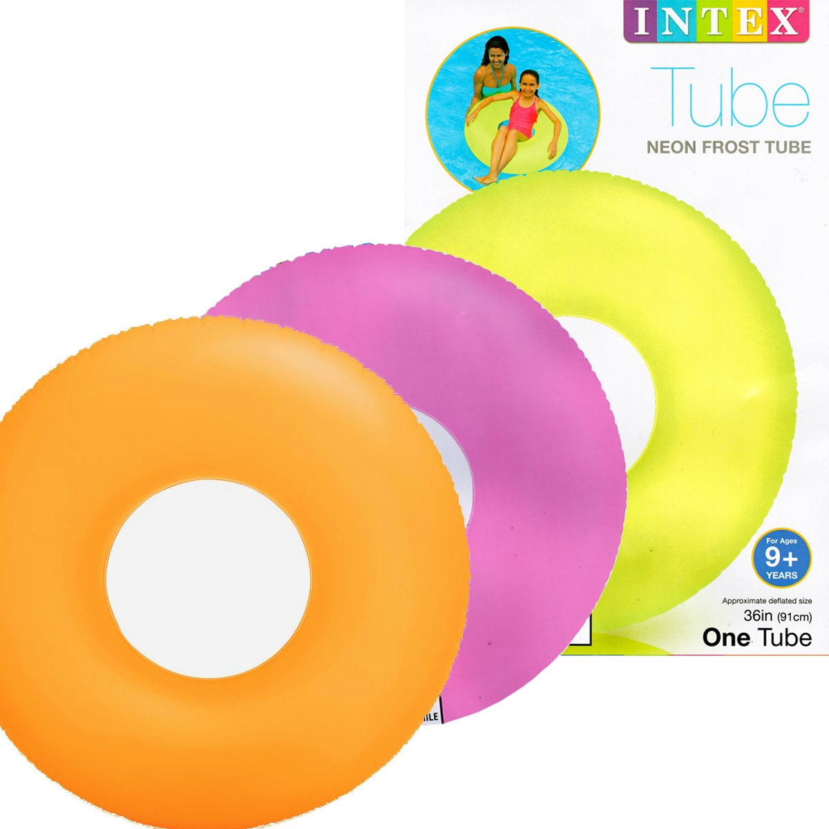 Intex Frost Tube Inflatable Sturdy Swim Pool, 36'' (4-Pack) by Intex
