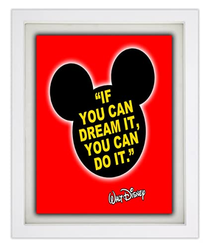 WALT DISNEY Famous Disney Quote - Framed Print - If You Can ...
