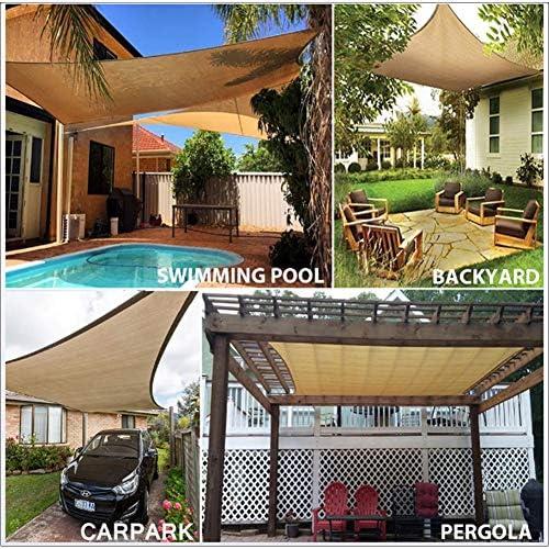 4 x 4 m Toldo Vela de Sombra Cuadrado Solar Protección HDPE Transpirable para Exteriores, Patios, Jardines, Terraza, Balcón: Amazon.es: Deportes y aire libre