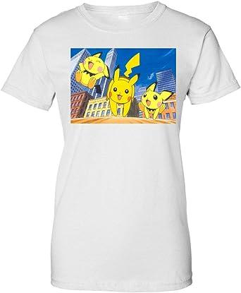 Vintage Pokemon Pokemon Go Pikachu Pichu Camiseta de Mujer: Amazon.es: Ropa y accesorios