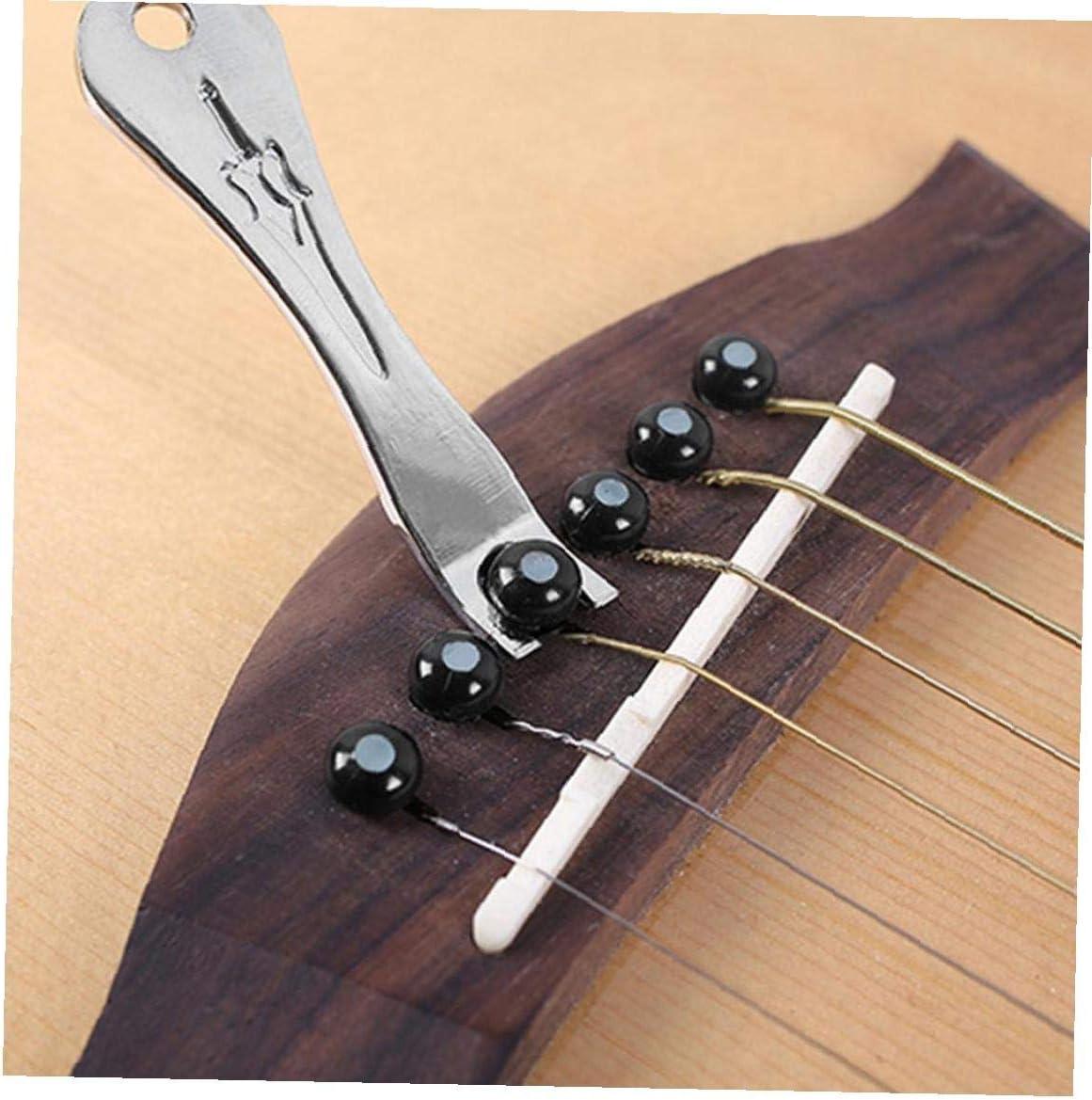 Chitarra perni del ponticello Scopare dado Pin Estrattore Remover per classico acustico chitarra accessori 15PCS di ricambio