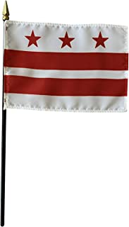product image for 4x6 E-Gloss Washington D.C. Stick Flag - Flag Only - Qty 1