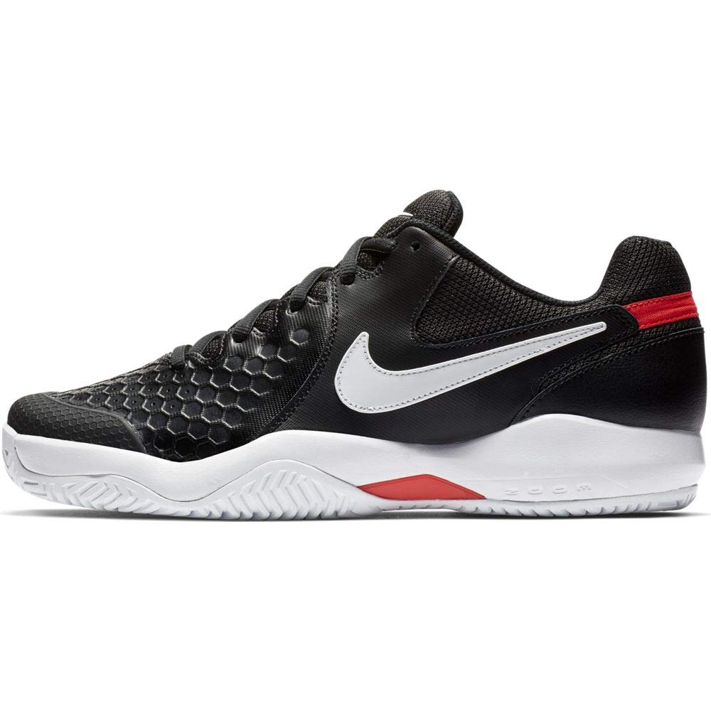 Nike Men's Air Zoom Resistance Tennis Shoe (7 D US, Black/White/Bright Crimson) by Nike