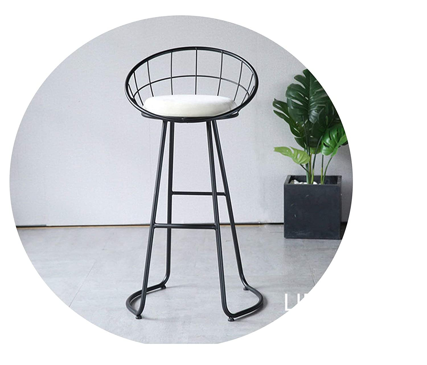 Black height 65CM Metal Creative Nordic Bar Stool Bar Chair Fashion Counter Stool High Stool Simple Dining Chair,gold Height 65CM
