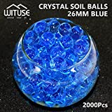 2000PCS WATER BALLS GROWING CRYSTAL SOIL AQUA BEADS 4.1MM BLUE GEL DECOR