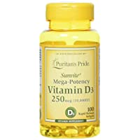 Vitamin D3 10,000 IU Bolsters Immune Health by Puritan's Pride of Immune System...