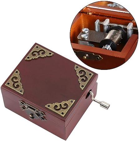 L.J.JZDY Cajas de música Vintage clásico manivela de Madera Caja de música Musical de Madera Caja de Regalo de cumpleaños Regalo (Color : Chocolate, Size : Gratis): Amazon.es: Hogar