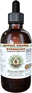 Eyebright Alcohol-FREE Liquid Extract, Organic Eyebright (Euphrasia officinalis) Dried Herb Glycerite Hawaii Pharm Natural Herbal Supplement 2 oz