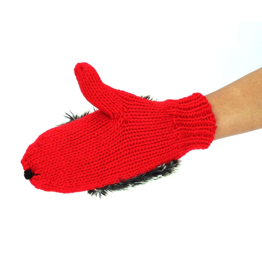 Handschuhe Damen M/ädchen Igel F/äustlinge Cartoon Tier Winterhandschuhe Strick Fahrradhandschuhe Warme Dicke Fahrradhandschuhe Alltag Skihandschuhe Weihnachten