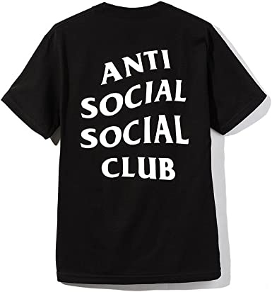 Camiseta de Manga Corta para Hombre de Anti Social Club S-3XL - Negro - Medium: Amazon.es: Ropa y accesorios