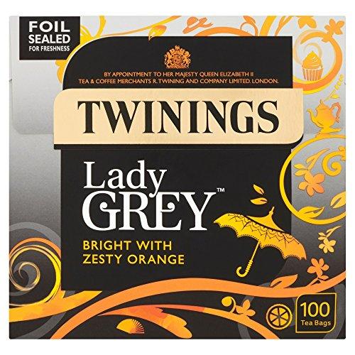 Twinings - Lady Grey Zesty, Orange & Bright - 100 Tea Bags - 250g