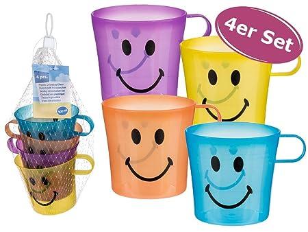 Vaso Smile Juego de 4 de plástico - Vasos de plástico ...