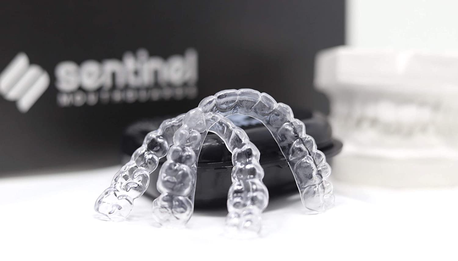 Sentinel Mouthguards Custom Clear Essix Plus Dental Retainers | Upper and Lower Replacement Orthodontic Retainers | Keeps Teeth Straight After Braces | Made in USA |