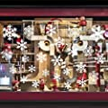 Funny Party Snowflake Window Stickers Christmas Window Decorations 108 Pieces PVC Stickers
