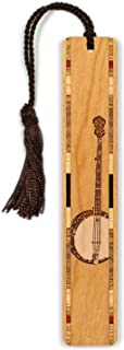 product image for Banjo - Musical Instrument - Engraved Wooden Bookmark with Tassel - Search B073VX34WV For Personalized Version