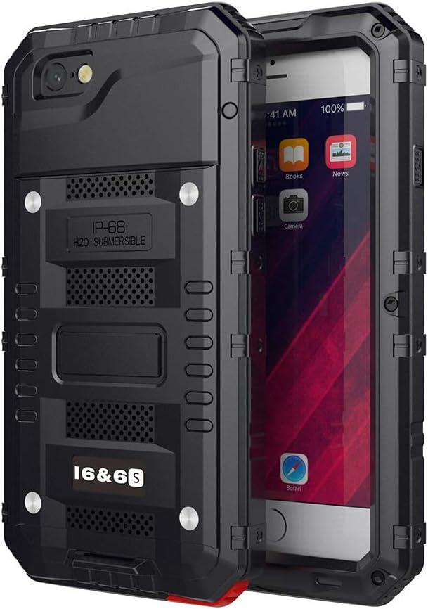 Beeasy Coque iPhone 6/ 6S Étanche,Antichoc Protecteur d'Écran Intégré Qualité Militaire Robuste Super Résistant Metal IP68 Imperméable Qualité ...