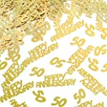4 Bags Gold 50th Anniversary Confetti Glitter Confetti Table Decorations for 50th Anniversary Wedding Party Decoration