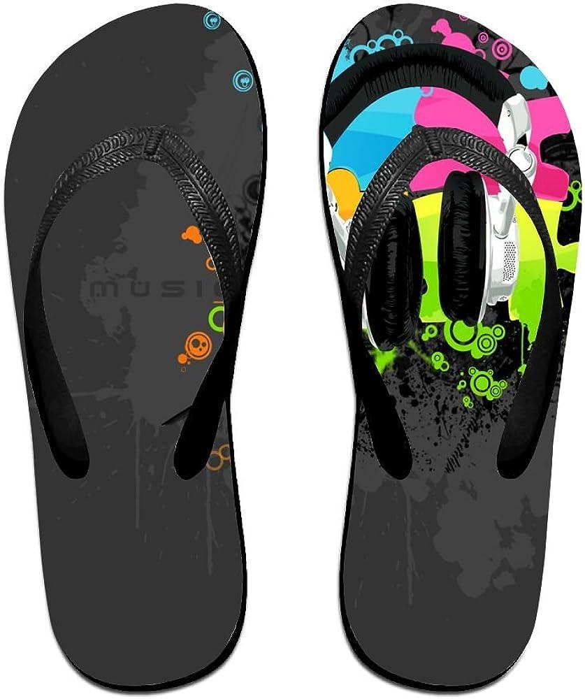 Jesus Music with Headset Nice Christmas V Flip Flops Beach Slippers Chinela Baboosh Babouche Sandals