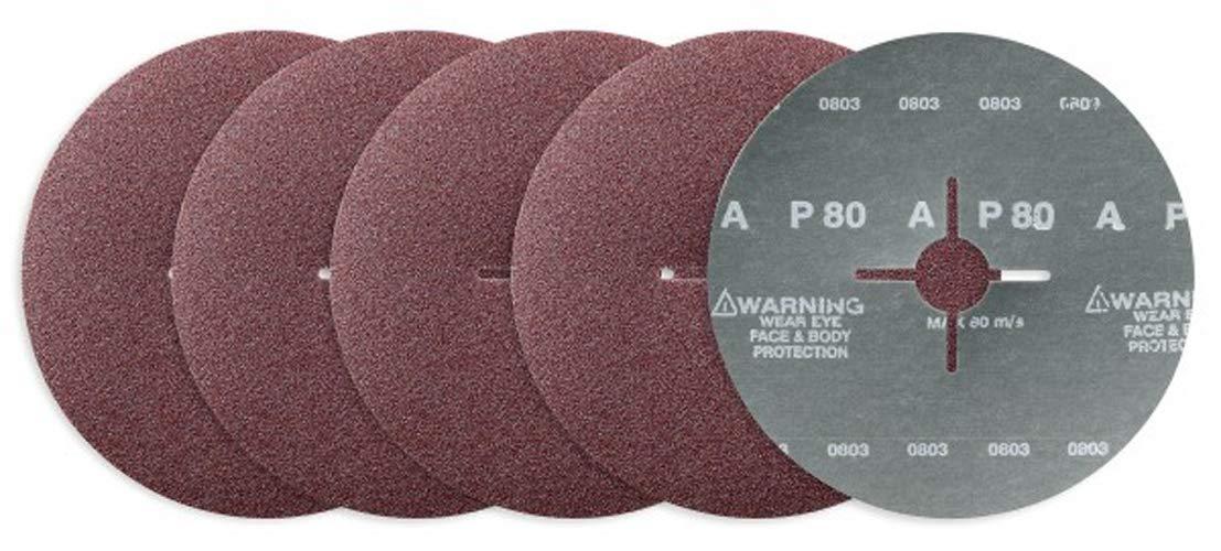 I022K 80 Grain Awuko KN22T Lot de 50 disques abrasifs Corindon /Ø 125 mm Trou /étoil/é